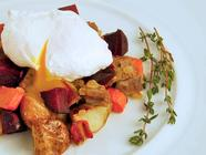 Corned Beef &amp; Root Vegetable Hash with Eggs